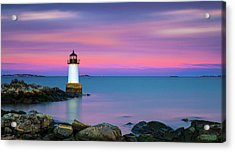 Winter Island Light 1 Acrylic Print