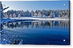 Winter Lake Scene 2 Acrylic Print by Edward Myers