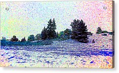 Winter Landscape 2 In Abstract Acrylic Print