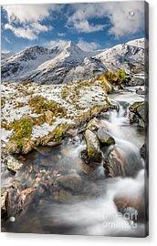 Winter Landscape Acrylic Print by Adrian Evans