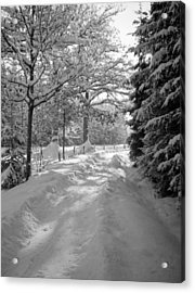 Winter Landscape  Christmas Card Acrylic Print by German School