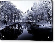 Winter Landscape  Acrylic Print by Edward Myers