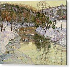 Winter Landscape Acrylic Print by George Gardner Symons