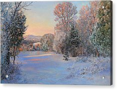 Winter Landscape In The Morning Acrylic Print