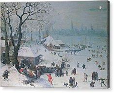 Winter Landscape Acrylic Print by Lucas Van Valckenborch