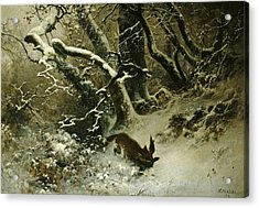 Winter Landscape Acrylic Print by Ludwig Munthe
