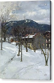 Winter Landscape Near Kutterling Acrylic Print