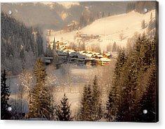Winter Landscape Salzburger Land Acrylic Print