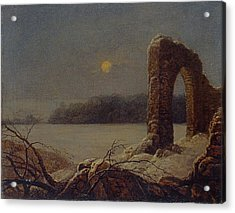 Winter Landscape With Ruined Arch Acrylic Print by Celestial Images