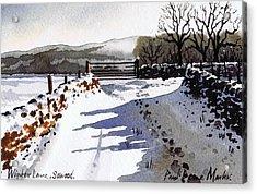 Winter Lane Sowood Acrylic Print