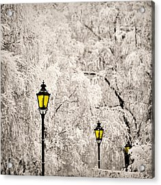 Winter Lanterns Acrylic Print by Ari Salmela