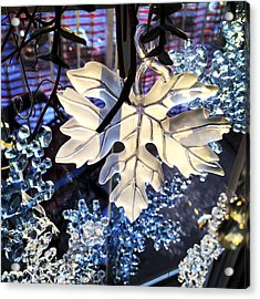 Winter Leaf Acrylic Print