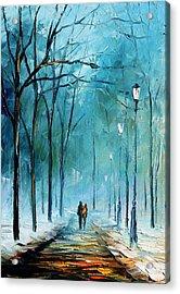 Winter Acrylic Print by Leonid Afremov