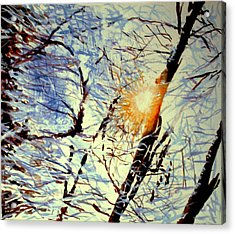 Acrylic Print featuring the painting Winter Light by Allison Ashton