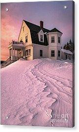 Winter Light At Marshall Point Acrylic Print by Benjamin Williamson