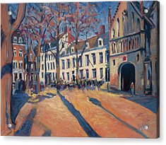 Winter Light At The Our Lady Square In Maastricht Acrylic Print by Nop Briex
