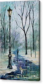Winter Light Acrylic Print by Leonid Afremov