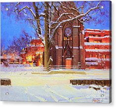 Winter Lorreto Chapel Acrylic Print by Gary Kim