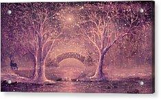 Winter Magic Acrylic Print by Ann Marie Bone