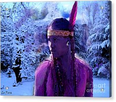 Winter Maiden Acrylic Print by Le Pera