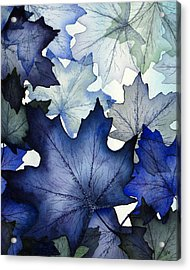 Winter Maple Leaves Acrylic Print by Christina Meeusen