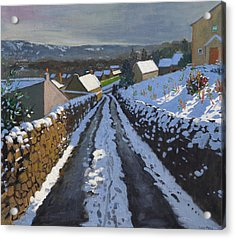 Winter Middleton Derbyshire Acrylic Print by Andrew Macara