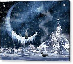 Winter Moon Acrylic Print by Mihaela Pater
