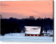 Acrylic Print featuring the photograph Winter Morn by Diane Merkle