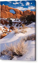 Winter Morning At Arches National Park Acrylic Print by Utah Images