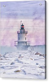 Winter Morning At Spring Point Ledge Acrylic Print