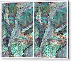 Winter Morning Bliss Diptych Acrylic Print