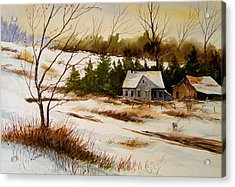 Winter Morning Acrylic Print by Brooke Lyman