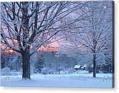 Winter Morning Acrylic Print by John Burk