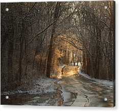 Winter Morning Road Acrylic Print by Robert Clayton
