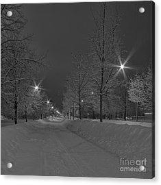 Winter Morning Acrylic Print by Veikko Suikkanen