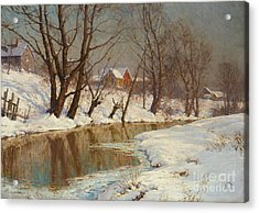 Winter Morning Acrylic Print by Walter Launt Palmer