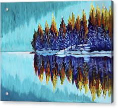 Winter - Mountain Lake Acrylic Print