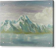 Winter Mountains Acrylic Print by Joni Herman