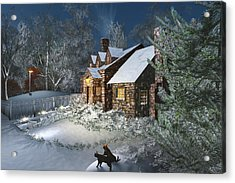 Winter Night Acrylic Print by Mary Almond