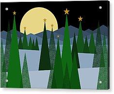 Winter Night Moon Acrylic Print