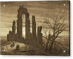 Winter - Night - Old Age And Death Acrylic Print by Caspar David Friedrich