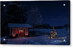 Acrylic Print featuring the photograph Winter Night by Torbjorn Swenelius