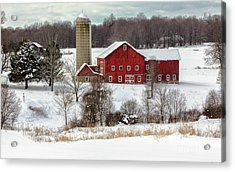 Winter On A Farm Acrylic Print