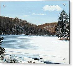Winter On An Ontario Lake  Acrylic Print