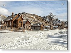 Winter On Main Street Acrylic Print