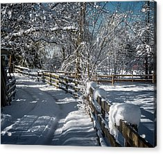 Winter On Ruskin Farm Acrylic Print