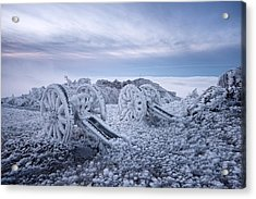 Winter On Shipka Peak Acrylic Print by Milen Dobrev