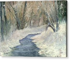 Acrylic Print featuring the painting Winter On Stormcreek by Gail Kirtz