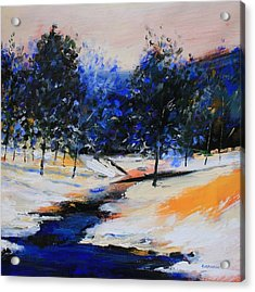 Winter On The Hill Acrylic Print by Mario Zampedroni
