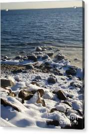 Acrylic Print featuring the photograph Winter On The Long Island Sound by Kristine Nora